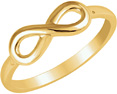 Plain 14K Gold Infinity Ring