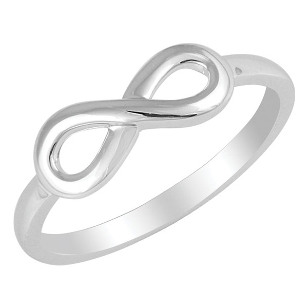 Plain Polished Infinity Ring in Sterling Silver
