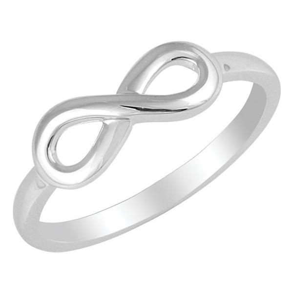 Polished Infinity Ring, 14K White Gold