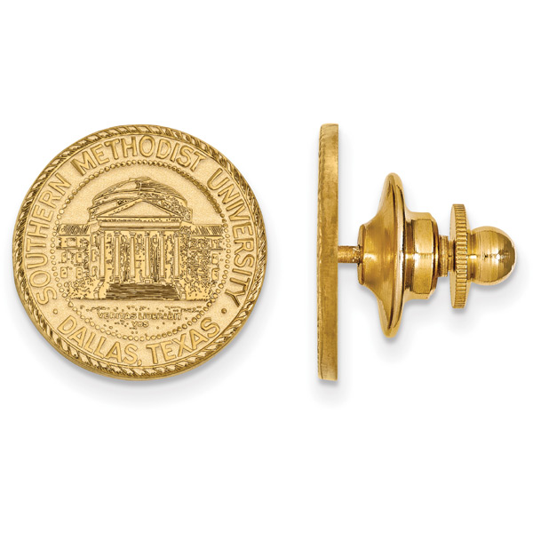 Southern Methodist University Lapel Pin, 14K Gold