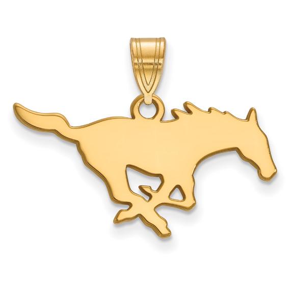 Southern Methodist University Horse Logo Pendant, 14K Gold (SMU)