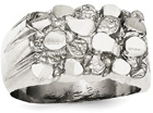 Sterling Silver Nugget Ring for Men