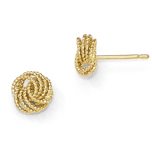 Textured 14K Gold Love Knot Earrings