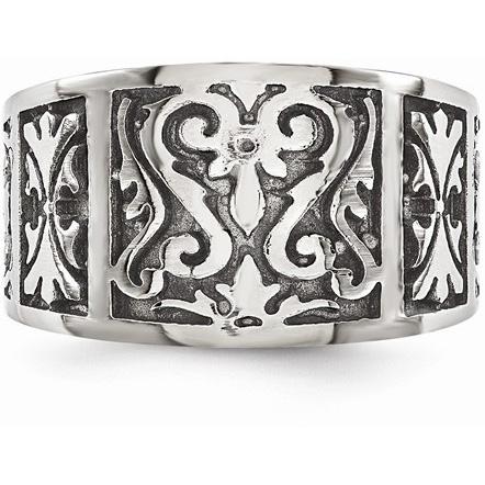 Titanium Filigree Ring with Brushed Finish