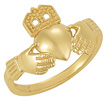 Traditional Claddagh Ring for Women in 14K Gold
