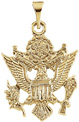 U.S. Army Crest 14K Gold Pendant