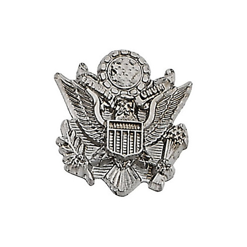U.S. Army Crest Lapel Pin in 14K White Gold