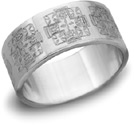 Jerusalem Cross Wedding Band