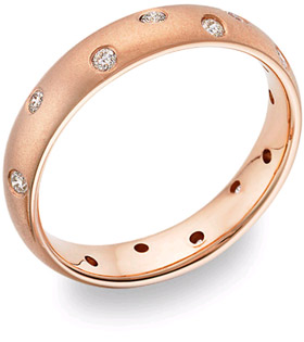 ZigZag Diamond Wedding Band, 14K Rose Gold (Wedding Rings, Apples of Gold)