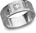 Giavanna Cross Wedding Band, 14K White Gold