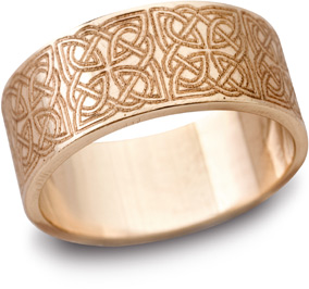 14K Rose Gold Celtic Filigree Wedding Band