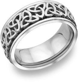 Buy Celtic Trinity Knot Wedding Band in 14K White Gold