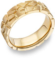 Nugget Design Wedding Band, 14K Yellow Gold