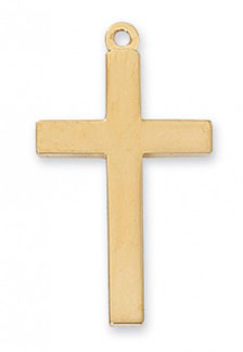 Plain 18K Gold Plated Silver Cross