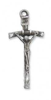 Sterling Silver Wooden Crucifix Pendant