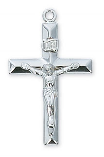 Sterling Silver Crucifix Pendant
