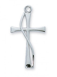 Sterling Silver Methodist Cross Pendant