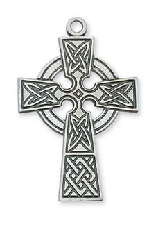 Celtic Knot Cross Pendant in Sterling Silver