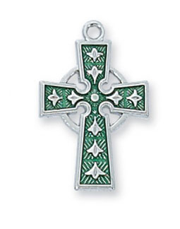 Sterling Silver Enameled Celtic Cross Pendant