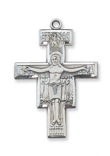 San Damiano Crucifix Pendant in Sterling Silver