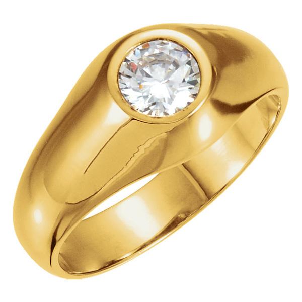 Men's Solitaire 1/2 Carat Diamond Ring in 14K Gold