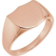 14K Rose Gold Men's Shield Signet Ring