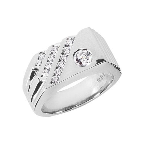 Designer | Diamond | Design | White | Ring | Gold | Men