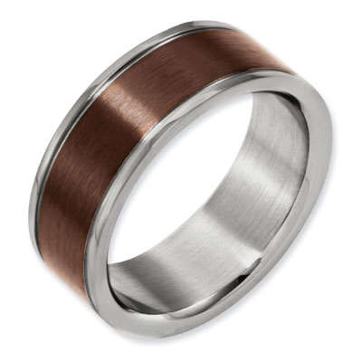 Chocolate Two-Tone Titanium Ring
