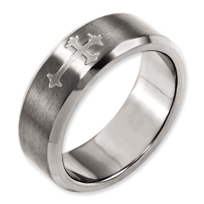 Coat of Arms Cross Titanium Band