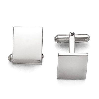High Polished Stainless Steel Cuff Links