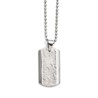 Liquid Stainless Steel Dog Tag Necklace
