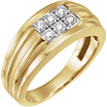 6-Stone 1/2 Carat Men's Diamond Ring in 14K Gold