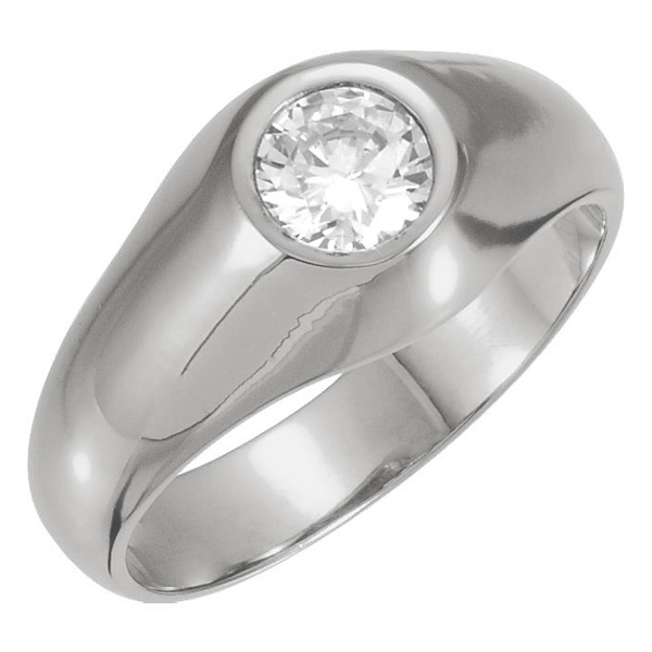 Men's Platinum 1/2 Carat Diamond Solitaire Ring