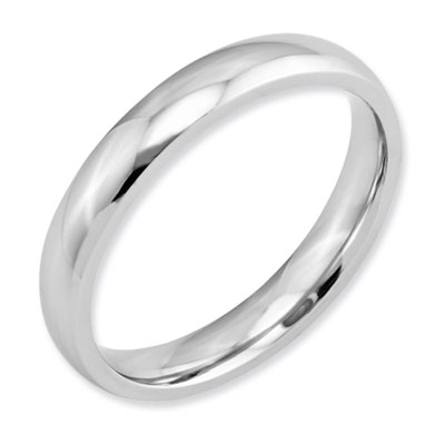Polished Plain Cobalt Wedding Band Ring