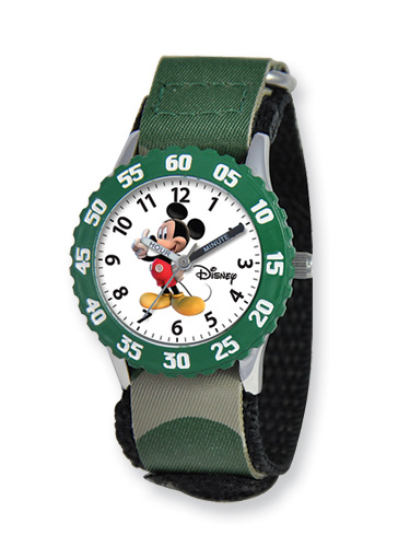 Kids Disney Mickey Mouse Watch, Camo Velcro