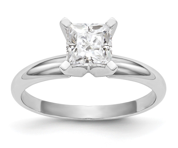 1 Carat Princess-Cut Moissanite Solitaire Engagement Ring