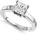 1 Carat Princess-Cut Moissanite Engagement Ring