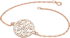 Rose Gold Personalized Monogram Bracelet