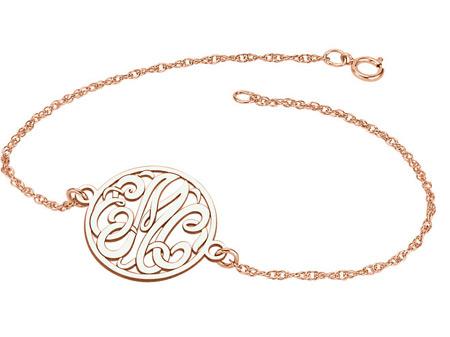 Rose Gold Personalized Monogram Bracelet