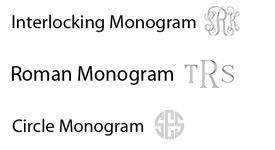 monogram jewelry font