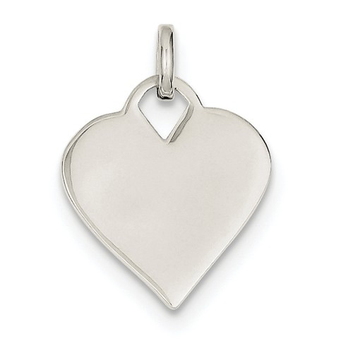 Engravable Silver Monogram Heart Charm