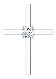 0.50 Carat Diamond Solitaire Cross Necklace