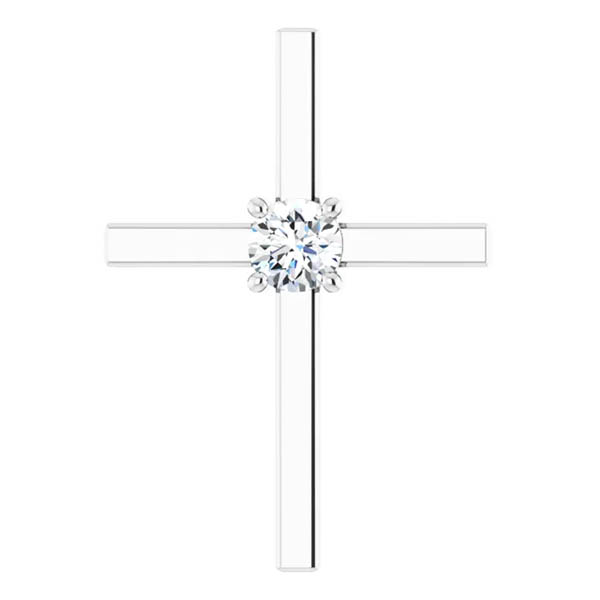 .50 Carat Diamond Solitaire Cross Necklace