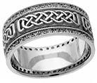 1/2 Carat Wide Diamond Celtic Wedding Band Ring for Women