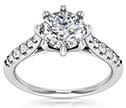 1.20 Carat Designer 8-Prong Diamond Engagement Ring