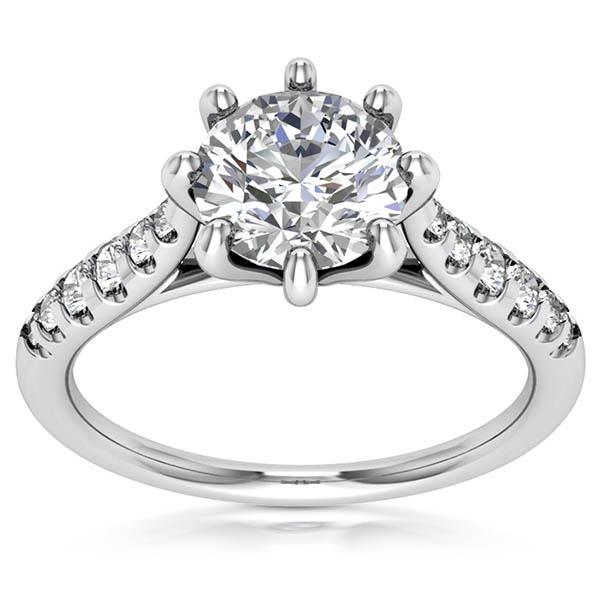 1.20 Carat Designer 8-Prong Diamond Engagement Ring