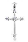 1/3 Carat Fleur-de-Lis Diamond Cross Pendant