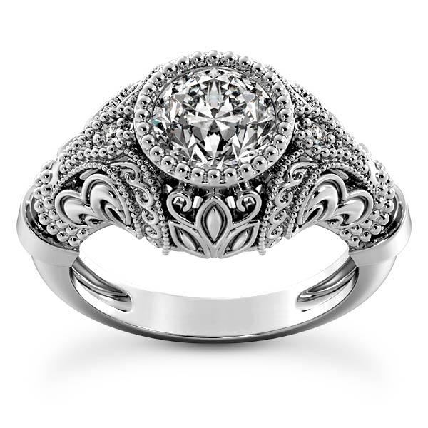 1 Carat Victorian-Era Diamond Engagement Ring