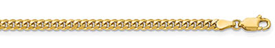 14K Gold 3.5mm Miami Cuban Link Chain Necklace