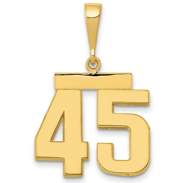 14K Gold 45th President Pendant in honor of Donald J. Trump